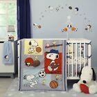 Bedtime Originals Snoopy™ Sports 3-Piece Crib Bedding Set - Blue, Red, Gray
