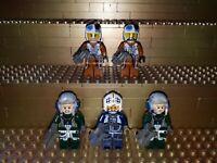 5 Lego Star Wars Piloten Figuren A-Wing Rebellen Pilot mit Zubehör  Minifig W24