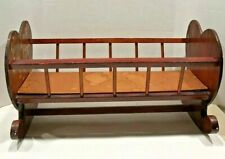 """Doll Cradle Spindle Sides, Heart Decorated Headboard 22 1/2"""" Long"""