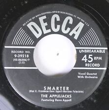 50'S & 60'S 45 The Applejacks Featuring Dave Appell - Smarter / My Heart Will Wa