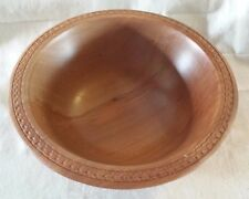 Tasmanian Red Hearted Leatherwood Turned Bowl with Ornate Carved Lip