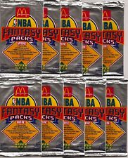 1992-93 UD Upper Deck McDonalds Fantasy Basketball 10- Pack Lot -Factory Sealed