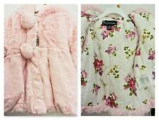 NWT $40 ROTHSCHILD JACKET 3T PETAL PINK FAUX FUR/FLORAL LINING ZIP FRONT