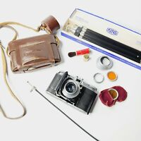 1950's Voigtlander Vito II 35mm Film Camera With EXTRAS, Tripod, Filters, TESTED