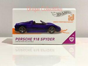 Hot Wheels iD Porsche 918 Spyder Supercars 4/4 Limited Run Collectible Brand NEW