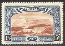 British Guiana #156 Mint - 1898 15c Blue & Red Brown ($37)