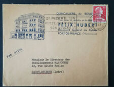 LETTRE MARTINIQUE TO FRANCE 1961 AIR MAIL COMMERCIAL FELIX HUBERT QUINCAILLERIE