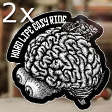 2x Stück BOMONSTER Hard Life Easy Ride Sticker Aufkleber Bobber Chopper Shovel