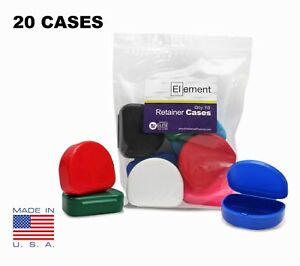 YOU PICK COLOR Element RETAINER CASES 20 PACK Orthodontic Nightguard Braces