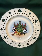 Lenox Christmas Holiday Trimming Trio Mickey Mouse Money Pluto Disney Plate 1997