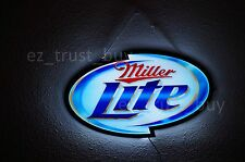 New Miller Lite Beer Logo Man Cave LED Neon Sign 14""