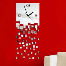 Mosaïque autocollant bricolage Miroir Horloge murale Wall Sticker Décoration Bon