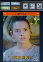 Star Wars Card Trader Topps Digital Vintage Series 4 W3 Rey Hears the Truth