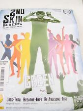 Rubies Kids Green Second Skin Suit Child's Medium  8-10