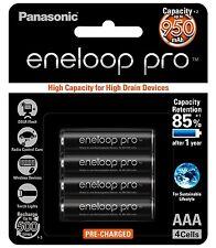 Panasonic eneloop pro rechargeable 950mAh AAA battery 4 pack Japan Made BK-4HCCE