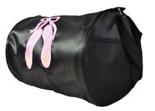 SPENCIL Black Satin Bag with 'Ballet Slippers' Dance/Dancing Sports Bag *NEW*