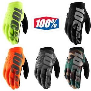 100% Brisker Gloves Cold Weather Thermal Motocross MX Enduro MTB Gloves Winter