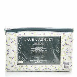 Laura Ashley Floral Cotton Sheet Set CAL-KING