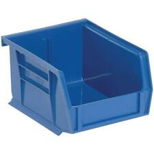 Small Storage Bin 24 Pack Stackable Thick Plastic Parts Shop Garage Utility Blue