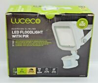 Luceco Guardian Slimline LED Floodlight With PIR White IP44 300K Warm White