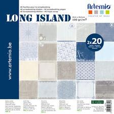 Bloc Long Island Assortiment 30x30cm 'artemio' 40 pages Theme Marin Sissi Scrap