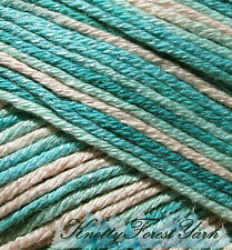 Bamboo Pop Yarn Dk 100gm Skein 292yds Cotton Bamboo Vegan #215 Soothe Aqua Pink