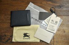 Men's Authentic Burberry London Genuine Leather Folding Wallet Navy RRP£250 BNWB