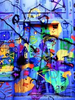 Graffiti - Colourful Modern Wall Art Large Poster / Canvas Picture Prints
