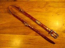 """Vintage Leather """"Brighton Museum Collection"""" Concho Coins Belt *Worldwide*"""