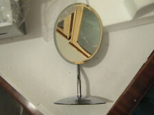 Oval Free Standing Table Mirror Design Silver Chrome Base