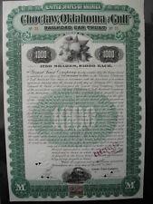 Choctaw Oklahoma and Gulf Railroad  1902 1000 $