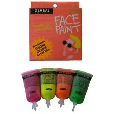 Global Body Art Face, Body and Hair Paint 4 Colours 15ml Pack Fluoro