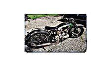 Bsa G14 1938 Motorbike Sign Metal Retro Aged Aluminium Bike