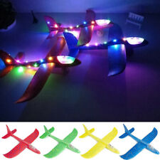LED Hand Throw Flying Glider Planes Outdoor Foam Aeroplane Children Kids Toys