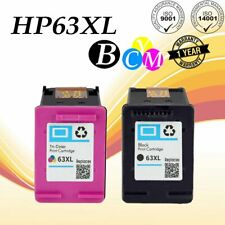 2x 63XL Printer Ink Combo for HP OfficeJet 3830 3831 4650 5200 5230 5255 5258