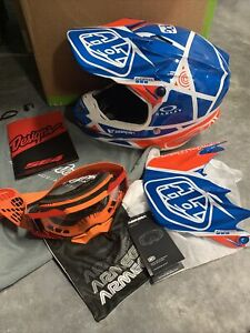 Troy Lee Motocross Helmet & Goggles