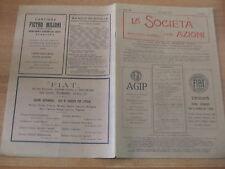 LA SOCIETA' PER AZIONI n.13-14 del 1931 Pubblicità FIAT AGIP Marelli ecc.