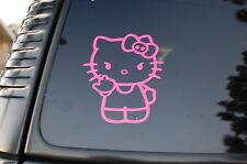 Hello Kitty Middle Finger Pink Vinyl Sticker Decal (V35) Nurse