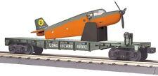 MTH 30-76478 Flat Car w/Airplane - Long Island railroad No. 491902 new in box