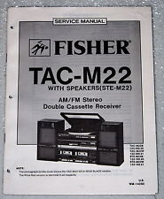 FISHER TAC-M22 STE-M22 Component Stereo System Shop Service Manual & Parts List
