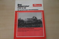 162770) Hassia Kartoffel Vollernter Z2U Prospekt 197?
