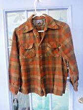 Vintage~Pendleton~Youth L~Womens Small~100% Wool~Long Sleeve Shirt~Rust~Brown