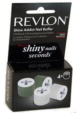 Revlon Nail Buffer Polisher Manicure Roller Replacement Refills - 4 Rolls