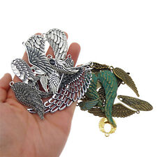 Pack of 15 Assorted Colors Vintage Alloy Pendants Wing Shaped Handmade Crafts