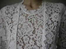 IRO-Spitzen-Bluse YACINTHE NEU S 36 evtl 38 NP 325 Top Baumwolle Used Look Weiß