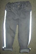 Baby Gap Toddler Girls 2 Yrs. Slim Gray Soft Cotton Reflective Stripe Pants