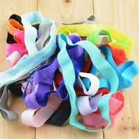 10Pcs Kids Baby Girls Elastic Headband Cotton Headwear Hairband Hair Band LJ
