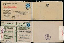 GB USED in EGYPT 10d KG6 OAS + CENSOR AIRMAIL...CO OP ENVELOPE...2 ITEMS