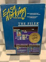 EASY WORKING From Spinnaker The Filer Commodore 64 / 128 Vintage Software