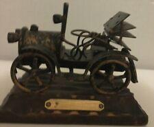 Metal Replica Early 1900's Car w/Cylinder Encased Engine & 4 Back Flaps 4 Rain